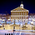 Faneuil Hall by night by Philip Kearney