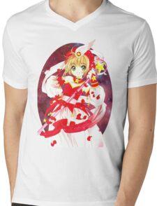 Cardcaptor Sakura Red Galaxy Mens V-Neck T-Shirt