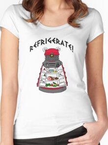 dalek -refrigerate Women's Fitted Scoop T-Shirt