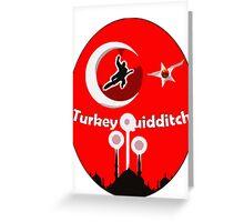 Turkey Quidditch  Greeting Card