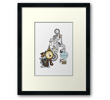 Hickory-Dickory-Dock : Cat & Mouse Framed Print