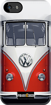 Red Volkswagen VW iphone 5, iphone 4 4s, iPhone 3Gs, iPod Touch 4g case by Pointsale store.com