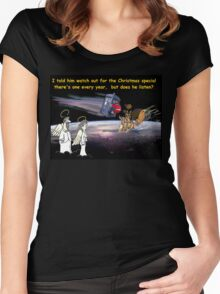 Christmas Traffic at 92,000 feet Women's Fitted Scoop T-Shirt