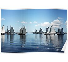 Reflections Of Sailing Poster