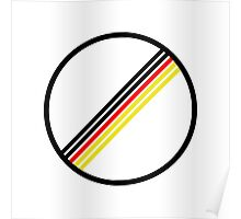 German Flag No Speed Limit Poster