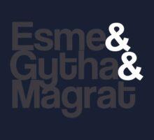 Discworld T-Shirt - Esme&Gytha&Magrat by PaulRoberts