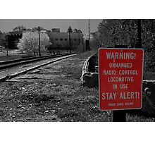 Warning! Photographic Print