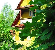 Neon Yellow Dacha at Kartashevskaya by M-EK