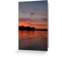 Fisherman's Sunset Greeting Card