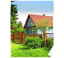 Cornflower Blue Dacha of Kartashevskaya Poster
