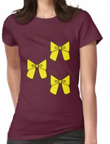 Yellow Bows to cover any holes..... Womens Fitted T-Shirt