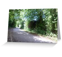 road sceen 2 Greeting Card