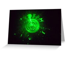 laser light Greeting Card