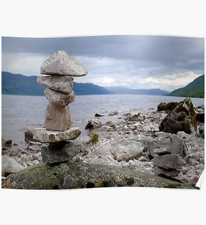 Loch Ness Cairn Poster