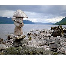 Loch Ness Cairn Photographic Print