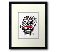 Dark Clown Drawing Framed Print