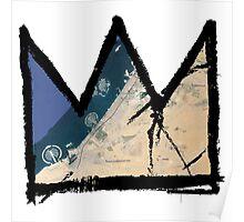 "Basquiat ""King of Dubai UAE"" Poster"