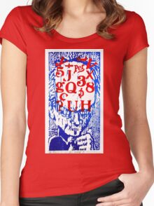 He Has A Lot On His Mind Women's Fitted Scoop T-Shirt