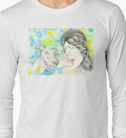 Our Lady of the Greyhound Long Sleeve T-Shirt