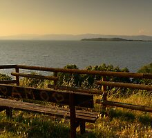 AMO, evening light over Lago Trasimeno, Umbria by Andrew Jones