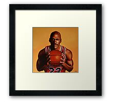 Michael Jordan painting 2 Framed Print