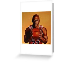 Michael Jordan painting 2 Greeting Card