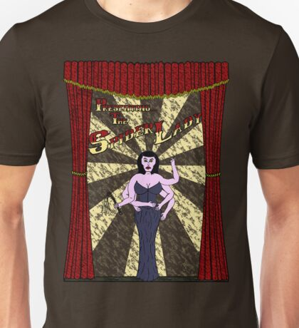 The Spider Lady Takes The Stage T-Shirt