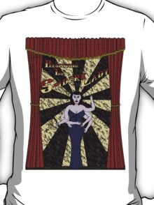 The Spider Lady Takes The Stage (Sticker) T-Shirt