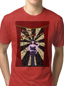 The Spider Lady Takes The Stage (Sticker) Tri-blend T-Shirt