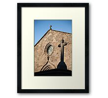 Church in Azores islands Framed Print