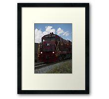 Train Locomotive in Motion Framed Print