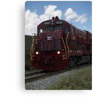 Train Locomotive in Motion Canvas Print