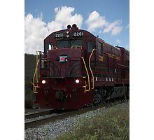 Train Locomotive in Motion Photographic Print