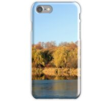 The first ice on a autumn pond  iPhone Case/Skin