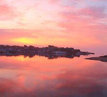 Daybreak on Hyannis Harbor by Roupen  Baker