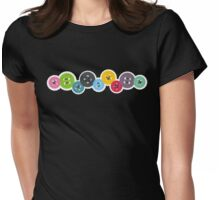Colorful buttons stitching sewing crafts Womens Fitted T-Shirt