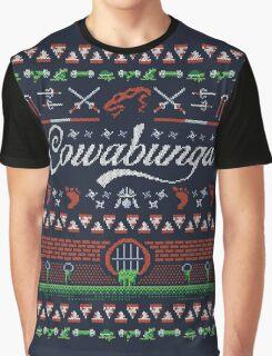 Cowabunga Christmas Graphic T-Shirt