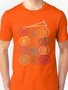Colorful yarn balls with knitting needles Unisex T-Shirt
