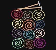 Colorful yarn balls with knitting needles Womens T-Shirt