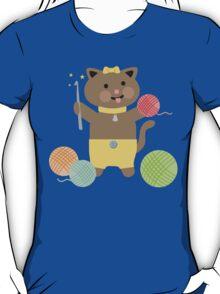 Cute kawaii kitty cat crochet hook T-Shirt