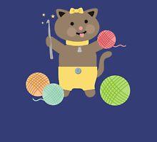 Cute kawaii kitty cat crochet hook Womens Fitted T-Shirt
