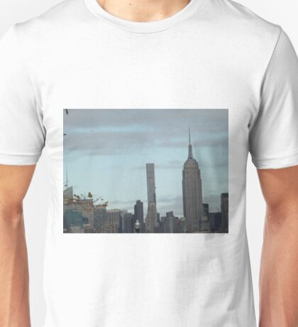 Empire State Building, 432 Park Avenue Skyscraper, View from Liberty State Park, New Jersey Unisex T-Shirt