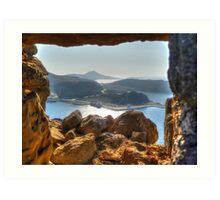 Stone Frame HDR Art Print