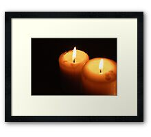 Candlelight Framed Print