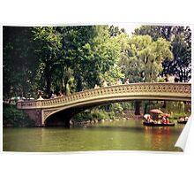 New York City Romance - Bow Bridge - Central Park  Poster