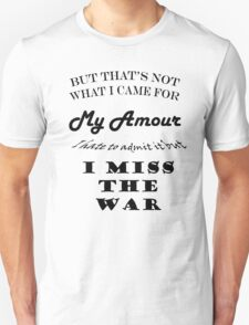 I Miss The War - Lyric Shirt (Mariana's Trench) T-Shirt