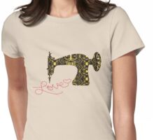 Love stitching antique sewing machine Womens Fitted T-Shirt
