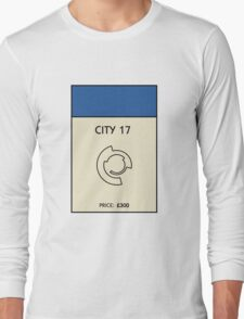 City 17 Monopoly (Half Life 2) Long Sleeve T-Shirt