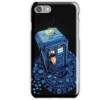 Time traveller at Arch of time Zone iPhone Case/Skin