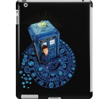 Time traveller at Arch of time Zone iPad Case/Skin